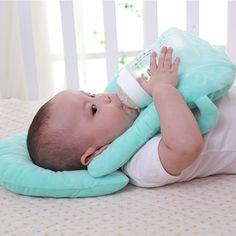 Eubell Baby Breastfeeding Pillow Slip On Ultra Soft Nursing Pillow Breathable and Lithe Infant Bottle Feeding Head Support for Newborn Multi Use Arm Nursing Cushion for Travel