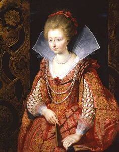H.S.H. Charlotte-Marguerite de Montmorency, Princess of Condé (1594-1640) by Rubens - Charlotte Marguerite de Montmorency was an heiress of one of France's leading ducal families, and Princess de Condé by her marriage to Henri de Bourbon. She almost became a mistress of Henry IV of France, but her husband escaped with her after the wedding, and did not return to France until after King Henry's death.