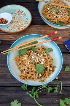 Almond Ginger Pad Thai // Gluten Free + Plant Based