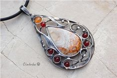 Natural Stone Jewelry, Natural Stones, Washer Necklace, Pendant Necklace, Tiffany, Carnelian, Drop Necklace