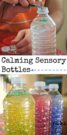 Use these calming bottles to help kids recover from a tantrum. They are so relaxing to watch and super easy to make. #calmingbottles #calmdownjar #sensorybottles Calming Bottle, Calm Down Jar, Sensory Bottles, Pregnancy Care, Help Kids, Kids And Parenting, Super Easy, Water Bottle, Make It Yourself