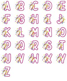 Unicorn Applique Alphabet Alphabet Letter Crafts, Alphabet Templates, Alphabet Design, Embroidery Software, Applique Embroidery Designs, Embroidery Fonts, Clock Template, Cute Rainbow Unicorn, Unicorn Crafts