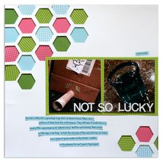 Hexagon Place 'n' Punch Scrapbook Layout Page Idea