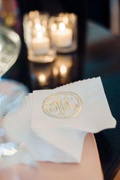 #monogram, #napkins Photography: Emily Steffen - emilysteffen.com Read More: http://www.stylemepretty.com/2013/11/26/kansas-city-wedding-from-emily-steffen/ | WefollowPics