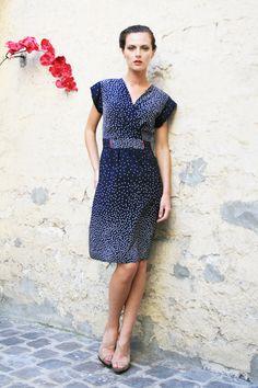 """Amanda dress print """"stars"""" by Phalaenopsis.fr"""