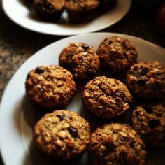 Muffin vegano de banana e aveia