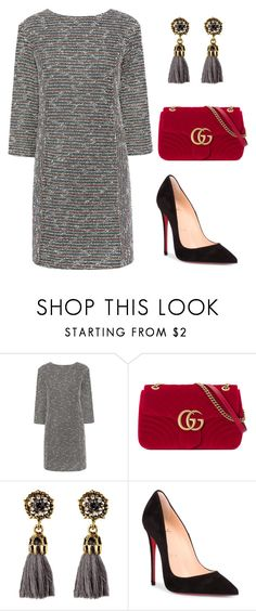 """Untitled #2946"" by christawallace ❤ liked on Polyvore featuring Paul & Joe Sister, Gucci and Christian Louboutin"