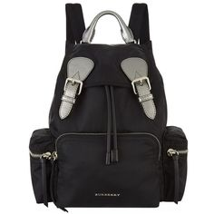 Burberry Medium Metallic Backpack (£795) ❤ liked on Polyvore featuring bags, backpacks, lightweight backpack, lightweight rucksack, woven backpack, metallic backpack and day pack backpack