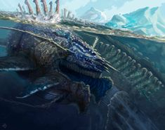 (2) Leviathan 2016, digital, ive been working on my... - Illustratedpixels- The Art of Alexander Gustafson