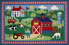"Olive Kids Country Farm Rug - 19""x29"""