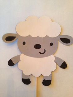 Farm Animal cutouts Barnyard animal cutouts die cuts die cut outs barn sheep pig chick cow # Eid Crafts, Diy And Crafts, Paper Crafts, Animal Cutouts, Sheep Pig, Sheep Crafts, Barnyard Animals, Animal Crafts For Kids, Farm Birthday