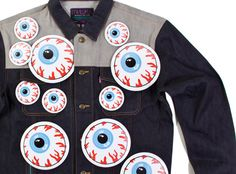 Mishka Oversized 'Keep Watch' Pins