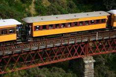 The Taieri Gorge train is Dunedin's prestige tourist train operating from the historic Dunedin Railway Station. Dunedin New Zealand, New Zealand Holidays, Train Service, Future Travel, Travel Inspiration, Travel Ideas, Tourism, Coastal, Places To Visit