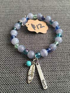Faith/feather bracelet by FaithfulBeadsbyAsh on Etsy