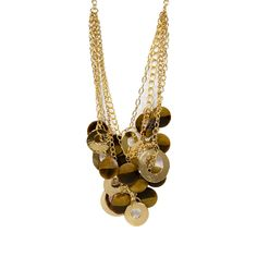 I love the RJ Graziano Four Row Resin & Gold Necklace from LittleBlackBag
