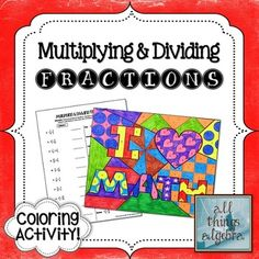 19 best dividing fractions images on pinterest dividing fractions multiplying dividing fractions i 3 math coloring activity works perfect individually ibookread Read Online