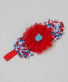 royal blue Handmade Boutique School Hairband Alice Band zigzag