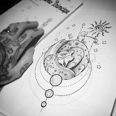 """Detalhes do """" O pequeno Príncipe"""" por <a href=""""http://instagram.com/kadutattoo"""">@kadutattoo</a>  Incrível trabalho!  Corre que o desenho ta disponível para tatuar!"""