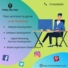 Now get the best Web Development & digital marketing agency in Nagpur which provides the best SEO, SMO, SEM, SMM, and any software design services. Marketing Software, Marketing Consultant, Digital Marketing Services, Content Marketing, Online Marketing, Mobile App Development Companies, Mobile Application Development, Software Development, Website Developer