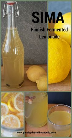 Sima: Finnish Fermented Lemonade Do not let the name of this drink scare you away from trying it. It is lemony, fizzy, and delicious. Slushies, Body Cleanse Drink, Do It Yourself Food, Fermentation Recipes, Summertime Drinks, Liquor Drinks, Beverages, Homemade Wine, Lemon Drink