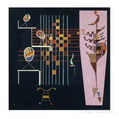 オールポスターズの ワシリー・カンディンスキー「Les Trois Ovales, c.1942」高品質プリント