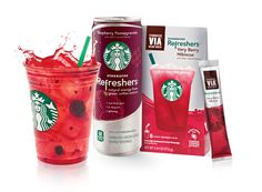 Welcome Starbucks Refreshers™ beverages, made with Green Coffee Extract for a boost of natural energy.