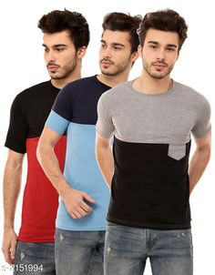 Tshirts Trendy Men's Cotton Blend Tshirts ( Pack Of 3) Fabric: Cotton Blend Sleeves: Half Sleeves Are Included Size: S M L XL (Refer Size Chart)  Length: Refer Size Chart Fit: Regular Fit Type: Stitched Description: It Has 3 Pieces of Men's T-Shirts Pattern: Solid Country of Origin: India Sizes Available: S, M, L, XL   Catalog Rating: ★4.1 (460)  Catalog Name: Stylish Trendy Men's Cotton Blend Tshirts Combo Vol 12 CatalogID_285522 C70-SC1205 Code: 934-2151994-
