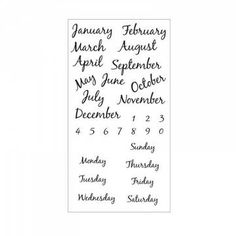 """Sizzix David Tutera Clear Stamps: Calendar. Sizzix Clear Stamps offer a variety of dazzling designs for your next cardmaking, scrapbooking or papercrafting challenge. Just stick the Clear Stamp onto an acrylic stamp mount for simple see-through positioning and you're ready for quick and easy stamping! Product Dimensions: 3 1/2"""" x 6 5/8..."""