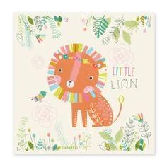 Kinderzimmerbild 'Löwe im Garten' in 4 Größen