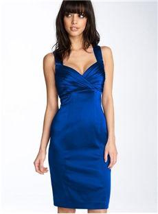 Sexy Simple Sheath Zipper Up Cocktail Dress
