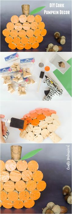 Crafting for the fall can be so much fun! Come and check out this simple wine cork pumpkin decor idea and learn how to make one yourself.