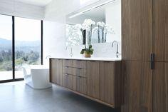 New Bathroom Vanity Redo Cabinets Bath Ideas Best Bathroom Vanities, Bathroom Renos, Bathroom Wall Decor, Bathroom Colors, Bathroom Interior Design, Bathroom Ideas, Attic Bathroom, Bathroom Designs, Walnut Cabinets
