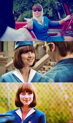 love her haircut / Pan Am - Karine Vanasse as Colette