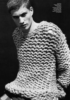 .Men's Chunky, Oversized Knitted Jumper