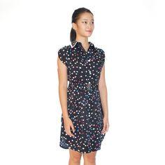 Dotty Print Shirt Dress on Carousell