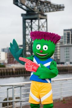 He scares us in the Exacta towers! :) The Glasgow 2014 Commonwealth Games mascot - known as Clyde. Olympic Mascots, Olympic Games, Glasgow Scotland, Scotland Travel, National Tartan Day, Fish Philosophy, Minion Theme, Sports Advertising, Creative Connections