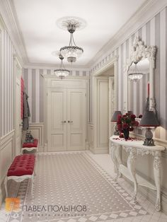 Фото: Дизайн прихожей - Интерьер шестикомнатной квартиры в классическом стиле, Малый пр. П.С., 160 кв.м.