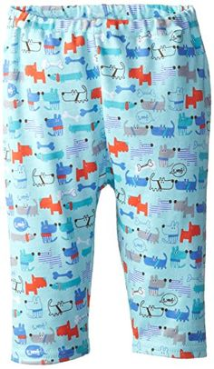 Zutano BabyBoys Newborn Le Chien Pant Aqua 6 Months -- Click image for more details.Note:It is affiliate link to Amazon.