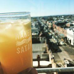 #nakedforsatan #melbourne #rooftop #juice #beer
