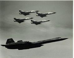 F106 & SR71 Formation  Sawyer AFB airshow (circa 1984).