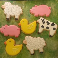 biscoito decorado animais fazenda farm animals decorated cookies