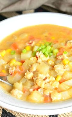 Absolute comfort food in one bowl! Delicious Lobster, Potato and Corn Chowder is full of flavor, full of lobster, this soup will hit all the right spots.