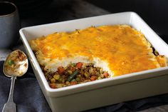 Put this Easy Shepherd's Pie on the table tonight in just 40 minutes. Mashed potatoes, veggies, and meat -- what more could you ask for?
