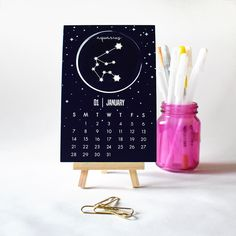 Zodiac Constellations 2018 Calendar