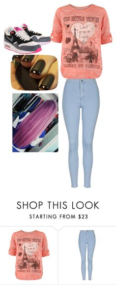 """""""Untitled #338"""" by ivana-milovanovic ❤ liked on Polyvore featuring WearAll, Topshop and NIKE"""