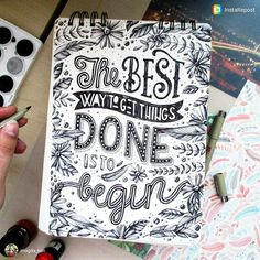 And then there's the problem with finishing those things & Hand Lettering Quotes, Creative Lettering, Typography Quotes, Brush Lettering, Lettering Design, Calligraphy Doodles, Calligraphy Quotes, Calligraphy Letters, Doodle Quotes