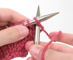 For beginners - knit stitch - english