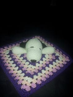 "Dog Snuggle/ Comforter / Lovey - Free Amigurumi Crochet Pattern - PDF Format - Click to ""download"" here: http://www.ravelry.com/patterns/library/dog-lovey-cartoon"