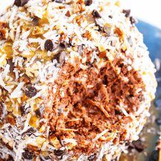 GERMAN CHOCOLATE CHEESECAKE BALL