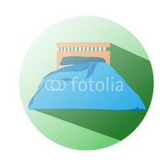 Bed icon supermaket #button #fotolia #design #concept #tool #cart #shop #online #services #icon #vector #business